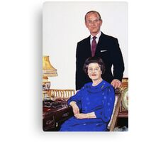 The Queen and Prince Phillip. Canvas Print