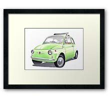Fiat 500 Framed Print