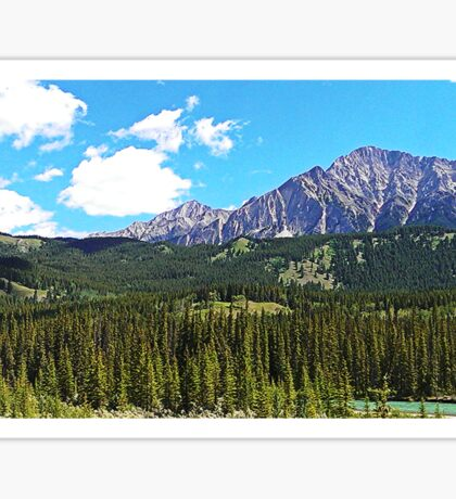 Canmore Mountains Sticker