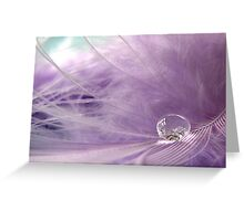 In love with feathers... and bubbles... Greeting Card