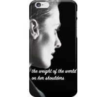 Kate Beckett weight of the world iPhone Case/Skin
