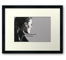 Kate Beckett weight of the world Framed Print