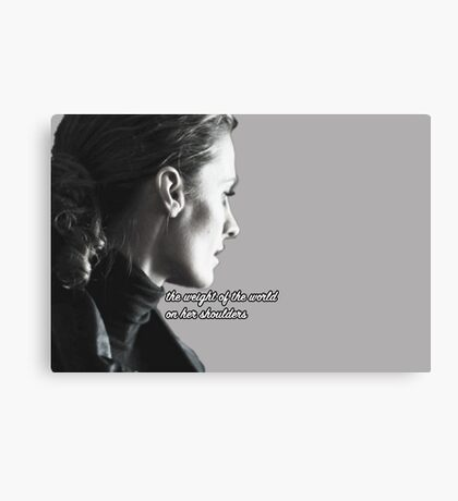 Kate Beckett weight of the world Canvas Print