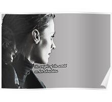 Kate Beckett weight of the world Poster
