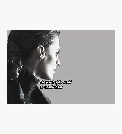 Kate Beckett weight of the world Photographic Print