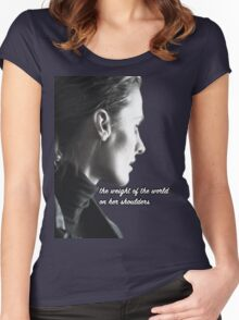 Kate Beckett weight of the world Women's Fitted Scoop T-Shirt