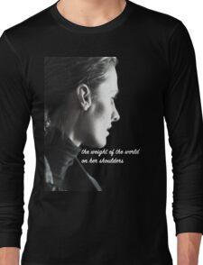 Kate Beckett weight of the world Long Sleeve T-Shirt