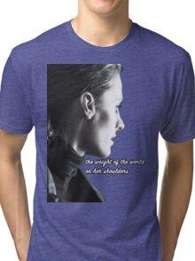 Kate Beckett weight of the world Tri-blend T-Shirt