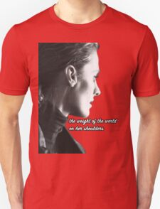 Kate Beckett weight of the world Unisex T-Shirt