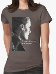 Kate Beckett weight of the world Womens Fitted T-Shirt