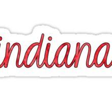 Red Indiana Tie-Dye Sticker