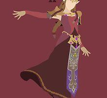 Zelda (Red) - Super Smash Bros. by samaran