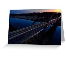 HDR 360 Bridge After Sunset 2011 Greeting Card