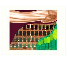 """City Living""  Art Print"