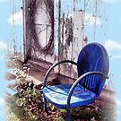 Mother's Old Blue Chair by wiscbackroadz