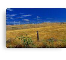Windmills in the Hills Canvas Print