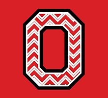 "Chevron Block ""O"" by Leah Gunther"