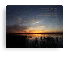Sunset Religous Photo III Canvas Print