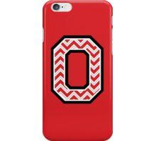 """Chevron Block """"O"""" iPhone Case/Skin"""