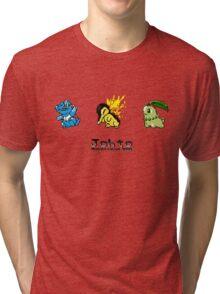 Retro Johto Starters Tri-blend T-Shirt