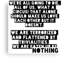 Bukowski quotes Canvas Print