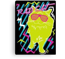 Rad Cat Canvas Print