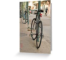 French Quarter Bicycle Greeting Card