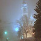 St. Dennis Church in the Blizzard of 2011 by MarjorieB