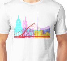 Dublin skyline pop Unisex T-Shirt