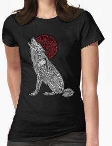 Celtic Howl Womens Fitted T-Shirt