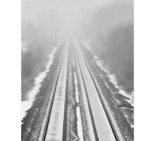 Empty tracks Photographic Print