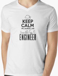keep calm I'm ( almost ) an engineer Mens V-Neck T-Shirt