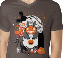Creatures of the Night Spooky Color Option Mens V-Neck T-Shirt
