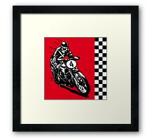Motorcycle classic retro vintage Framed Print