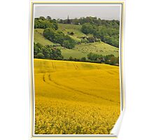 St Barnabas Church and rapeseed field Poster