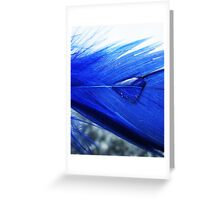Blue droplet Greeting Card