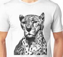 Cheetah Black Tonal Fineliner Drawing Unisex T-Shirt
