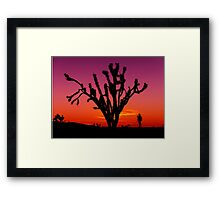 Sunset Over Mojave National Preserve Framed Print