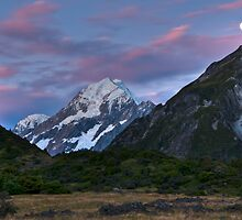 Moonlight over Mt Cook by Jonathan Stacey