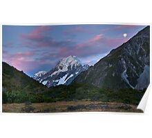 Moonlight over Mt Cook Poster