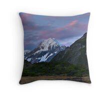 Moonlight over Mt Cook Throw Pillow