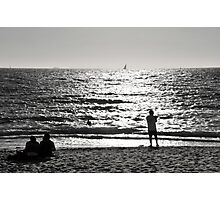 Bather's beach afternoon. Photographic Print