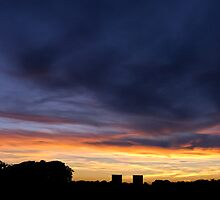 Wanstead Flats Park - HDR Sunset Panorama by inknimage