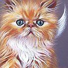 Kitten Angel (Persian) by Elena Kolotusha