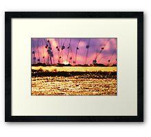 Golden waves Framed Print