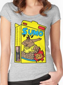 sumo cereal tshirt by rogers bros Women's Fitted Scoop T-Shirt