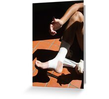 Foot problems Greeting Card