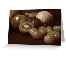Still Life Fruit - Sepia Greeting Card