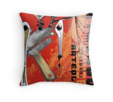 reaching for raven 12 Throw Pillow