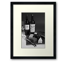 Perfect Lunch - Black And White Framed Print
